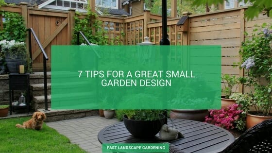 Small garden design tips
