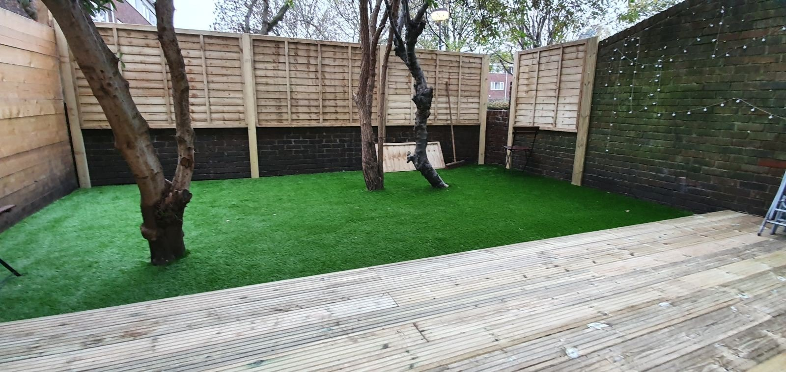 Installation Of Decking And Astro Turf After
