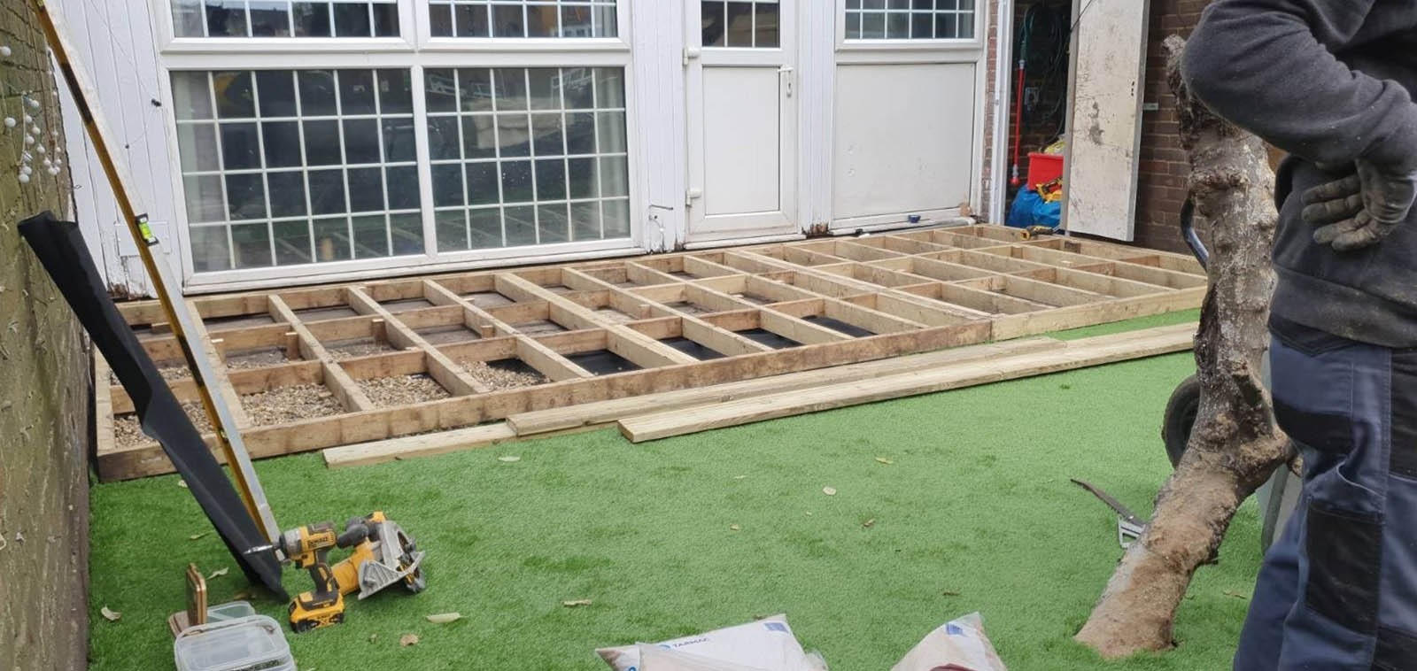 Installation Of Decking And Astro Turf Progress Image